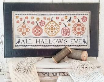 Hello From Liz Mathews QUAKER PUMPKINS Cross Stitch Pattern