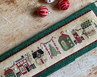 Heart in Hand CHRISTMAS TINY TOWN Cross Stitch Pattern - Christmas Cross Stitch
