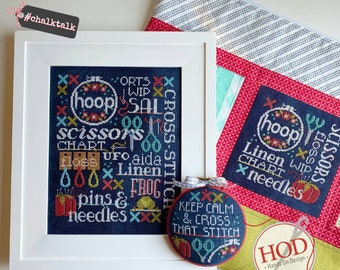 Hands on Design LET'S TALK STITCHING Cross Stitch Pattern ~ Fall 2021 Needlework Expo