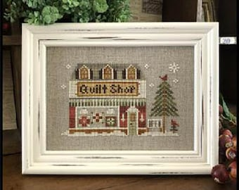 Little House Needleworks Cross Stitch Pattern Hometown Holiday THE QUILT SHOP - #19