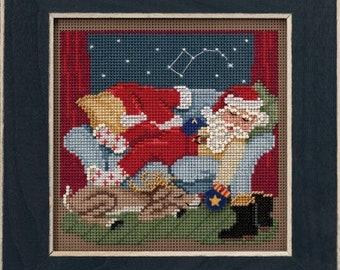Mill Hill GOOD NIGHT SANTA 2021 Cross Stitch Kit - Christmas Mill Hill Cross Stitch Kit