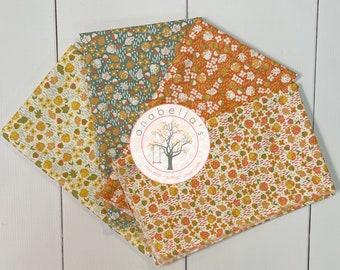 COZY UP Acorns & Maple Leaves Names BELLABUNDLE™ - 4 Fat Quarters ~ Corey Yoder for Moda Fabrics ~ Autumn Fat Quarters