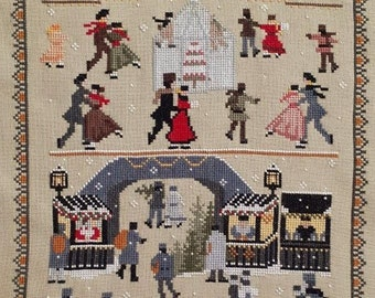 Twin Peak Primitives 1899 CHRISTMAS Cross Stitch Pattern ~ Fall 2021 Needlework Expo