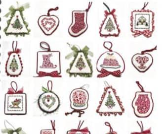 JBW Designs CHRISTMAS ORNAMENTs II  Cross Stitch Pattern - Christmas Cross Stitch