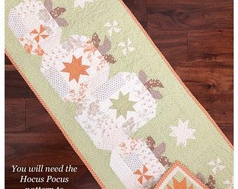 The Pattern Basket HOCUS POCUS Table Runner Pattern - Halloween Quilt Pattern