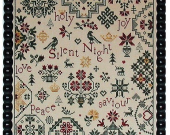 Praiseworthy Stitches Simple Gifts SILENT NIGHT Cross Stitch Pattern ~ Fall 2021 Needlework Expo