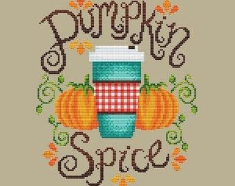 Shannon Christine PUMPKIN SPICE Cross Stitch Pattern - NEW Cross Stitch