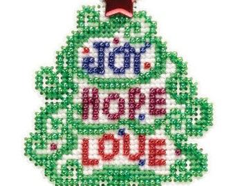 Mill Hill JOY, HOPE, LOVE 2021 Cross Stitch Kit - Christmas Mill Hill Cross Stitch Kit