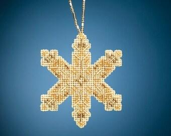 NEW Mill Hill VICTORIAN Snowflake Cross Stitch Kit - Christmas Cross Stitch Kit
