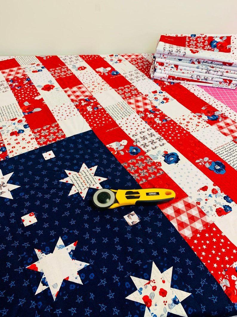 Land of Liberty 36 FLAG PANEL by My Minds Eye for Riley Blake Designs