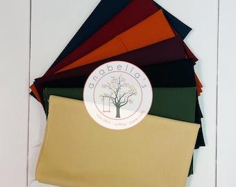 Moda Fabric HOPE BLOOMS BellaBundle™ Seven (7) Fat Quarters - Moda Fabrics - Bella Solids