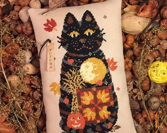 Calico Confectionary AUTUMN GATHERER Cross Stitch Pattern - Fall Cross Stitch Pattern - Autumn Cross Stitch