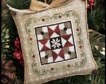 Little House Needleworks Cross Stitch Pattern Farmhouse Christmas GRANDMA'S QUILT - #5