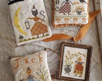 Pineberry Lane CATS & JACKS  Cross Stitch Pattern