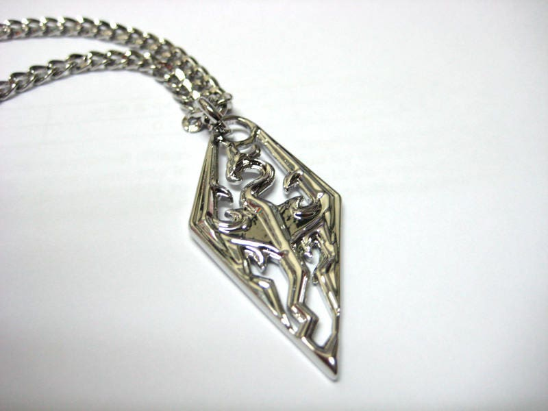 Skyrim Necklace and pendant jewelry handmade Stainless Stylish Supercool  Cute