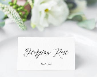 printable place cards instant download wedding place cards name cards escort cards escort cart editable pdf diy name card georgina - Folded Place Cards