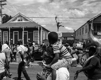 11th Anniversary of Hurricane Katrina Second Line - New Orleans 2016 - Photograph - Street Photography - Black and White - Katrina - Print
