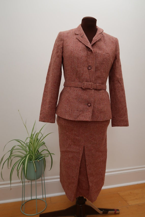 40s 50s style Navy DB Large Suit 60s English Made Gab
