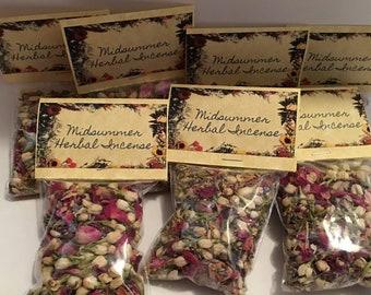 Litha, Summer Solstice, Lithe, Midsummer Loose Herbal Incense