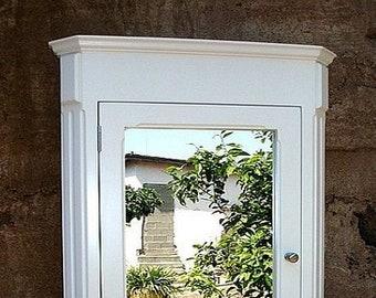 Ludwig Recessed Medicine Cabinet / White Finish / Handmade U0026 Solid Wood