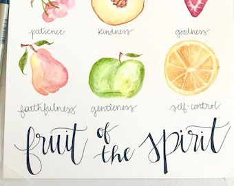 Fruit of The Spirit Watercolor