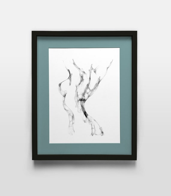 Nude Line Drawing Print Watercolour Art Print Abstract Watercolour Erotic Art Lesbian Print Frame Not Included Nude Line Art