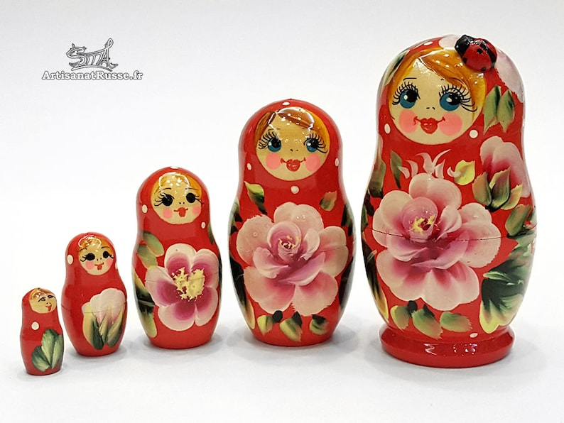 Matryoshka Russian dolls nesting Fleurinette with image 0