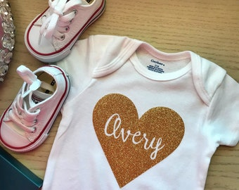 Personalized Heart Onesie