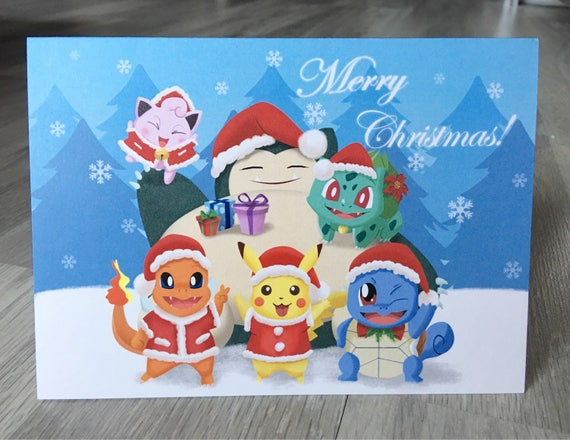 Pokemon Christmas.Pokemon Christmas By Cecilia Zeng Christmas Card