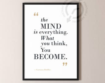 Buddha Quotes,  Famous Quotes, Buddha Wisdom, Poster Art, DIGITAL download, Buddha Wall Art, Quote Art, Quote Poster, DIGITAL Download