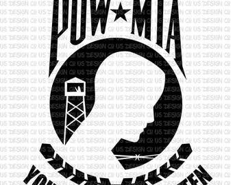 POW MIA SVG file