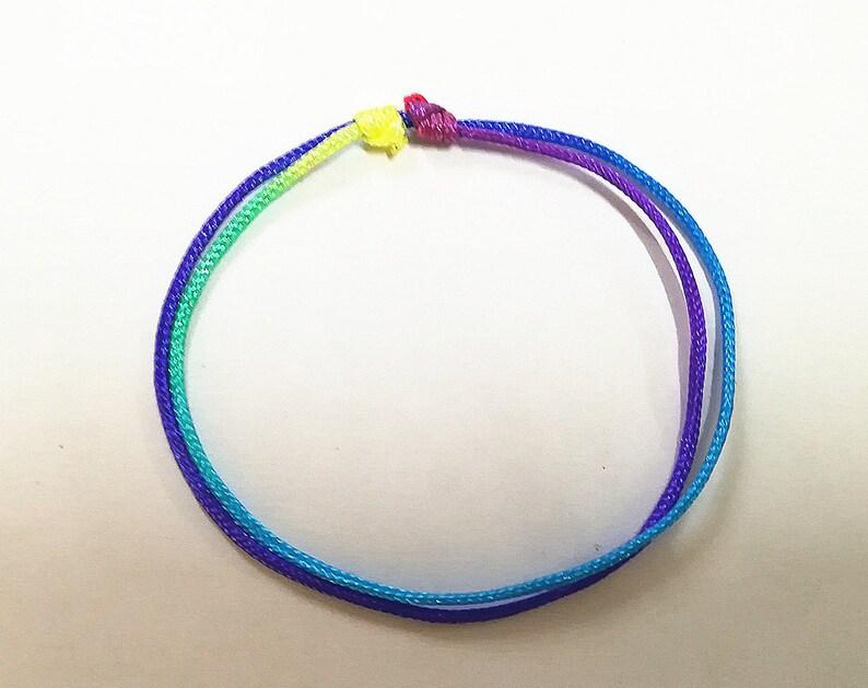 5-Color String Bracelet Set of 3 Children String Bracelets Colored String Bracelet Rainbow String Bracelet Red and Black String Bracelet