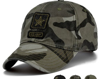 US Army Camo Caps Camouflage Dad Hats/ Embroidered Hats Baseball Hats Dad Caps Cotton hats/Baseball Caps Trucker Hats And Caps Sport Caps