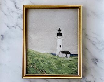 LIGHT IN THE Storm - Art Print - Oil Painting Still Life Print - Lighthouse Oil Painting Print - Nautical Oil Painting  Coastal Original Art