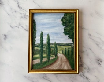 THIS WAY Original - Oil Painting - Landscape Oil Painting - Landscape Country Oil Painting - Kitchen Original Art Oil Painting