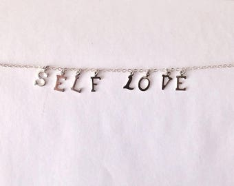 self love charm choker necklace