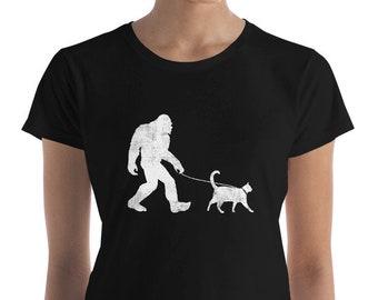 63f8d3dc Funny Bigfoot Walking Cat T-Shirt, Sasquatch, Yeti, Cat, Bigfoot Gift Shirt,  Cat Shirt
