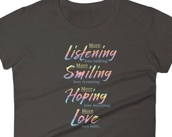 New Year's Resolution T-Shirt/Inspirational Words Women's T-shirt