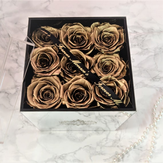 Enchanted Rose That Lasts A Year | Preserved Roses That Last A Year Enchanted Rose Arrangement Etsy
