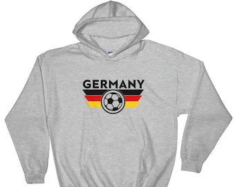 a4745d59f Germany Soccer Fan World Cup Jersey Hoodie Futbol Football Deutschland  National Team Gift Idea Russia 2018 Red White Hooded Sweatshirt