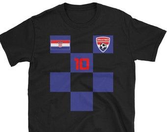 06b809e7eae Croatia Black Blue Soccer Jersey Shirt World Cup Short Sleeve Croatian T- Shirt
