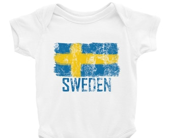 Sweden Onesie Soccer World Cup Infant Baby Toddler Newborn Bodysuit Futbol  Infant Football Bodysuit Swedish c14d2fc3c