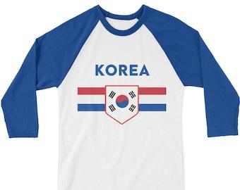 South Korea Retro 3/4 Sleeve Shirt