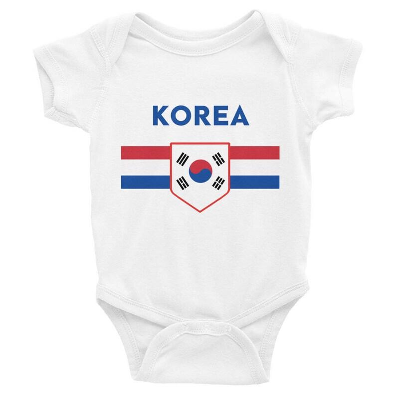 b2bb59e165d South Korea Onesie Soccer World Cup Infant Baby Toddler