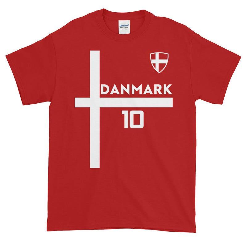 60236cd1e0a Denmark Soccer World Cup Shirt Danmark Danish Short-Sleeve | Etsy