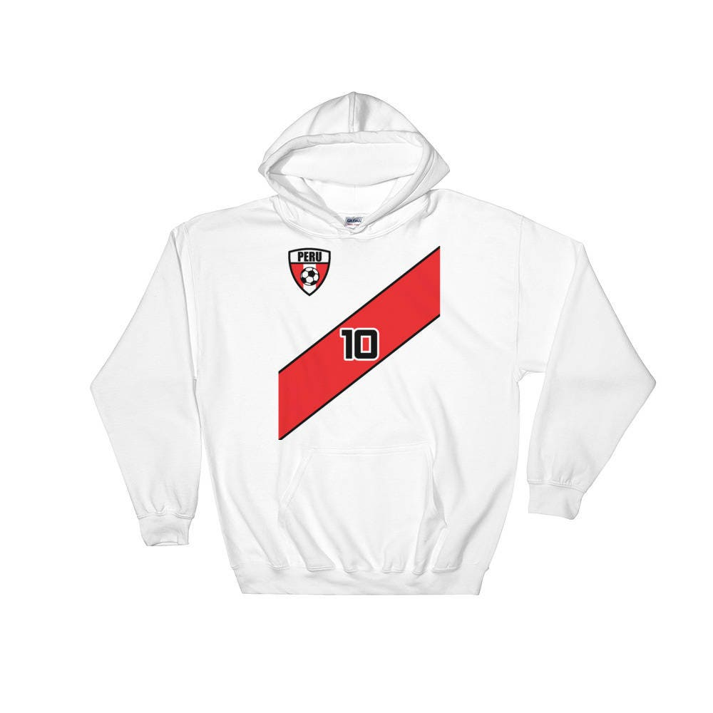 2afc3b6a745 Peru Soccer Fan World Cup Jersey Hoodie Futbol Football | Etsy