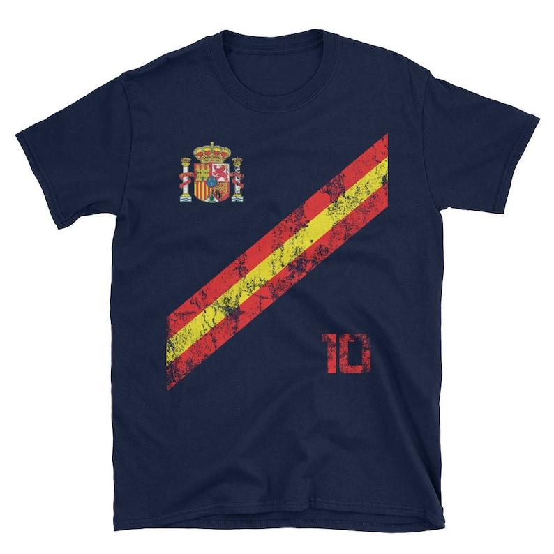 classic fit a0d5e 685e3 Spain Soccer Fan World Cup Jersey Shirt España Football Spanish National  Team Gift Idea Russia 2018 Red White T-Shirt
