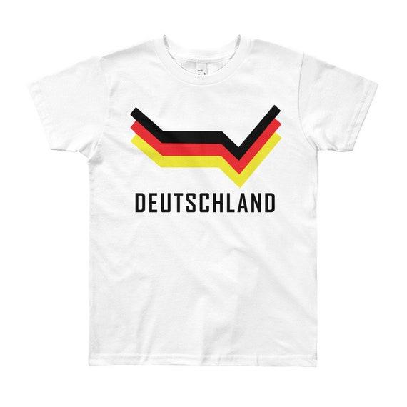 DEUTSCHLAND germany sport football fussball gift NEW Boys Girls Kids T SHIRT TOP