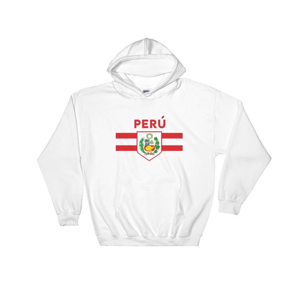 b73237fda61 Peru Soccer Fan World Cup Jersey Hoodie Futbol Football | Etsy