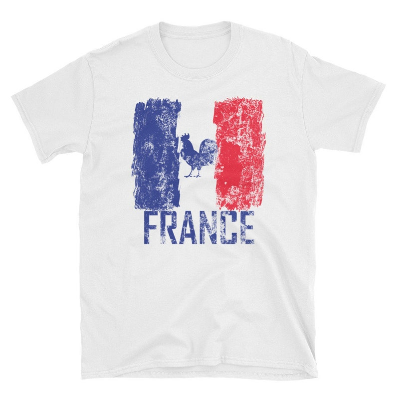 215d2ea15 France Soccer Jersey Shirt World Cup Flag Fan T-Shirt French | Etsy